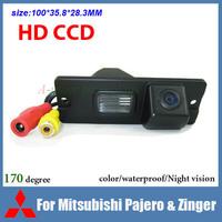 HD CCD Car backup camera for Mitsubishi Pajero Zinger color waterproof 170 degree night vision car reversing camera