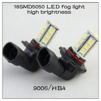 Toyota Corolla 01-08 low beam headlight 9006 HB4 18SMD5050 super bright led car light auto lamp car accessory free shipping 2pcs