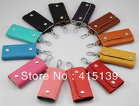 guarantee 100% genuine leather keychain wallet key purse cowhide candy multicolor bag Wallet Key case  Factory Price Wholesale