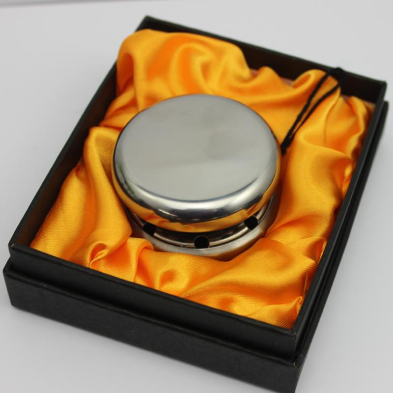 Spedizione gratuita moda tondo in acciaio inox argento yoyo giocattolo per i bambini in scatola regalo nera, logo personalizzato accettare