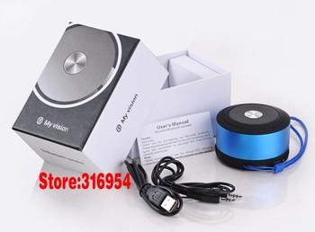 Free shipping 1pcs Mini Bluetooth Speakers support phone talk/TF card