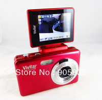 Free shipping +Free Camera bag gift+Twist14.1Mega Pixel digital camera  with 2.7'' flip screen+Takes self portrait+easy to use