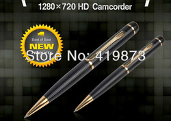 Free Shipping HD camera pen Ball-point pen Type 720P Can be used as USB flash drives mini dv dvr(China (Mainland))