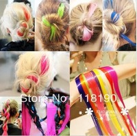 Free shipping Straight Colored Colorful Clip On In Hair Extension/Hair piece fashion ladies' hair piece 50pcs/lot jf7