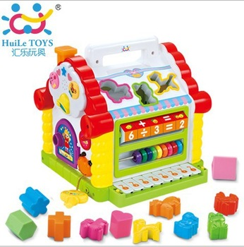 Free Shipping Multifunctional Musical Toys Colorful Baby's Fun House Many Kinds Of Music Learning & Educational Toys