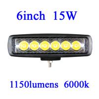FOR JEEP 15W LED Work Light 1150 Lumen Offroad Driving Lamp 6inch   ATV,10-30V DC IP67 FLOOR BEAM cree led offroad led light