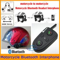 Wholesale Good Quality Bluetooth Helmet Interphone Motorcycle Helmet Headset Bluetooth Handsfree Kit FM/100M Intercom Headset