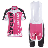 Women! Any Way To Match! New! 2013 cyclingbox Pink Female Cycling Jersey / + Shorts-B162 Free Shipping!