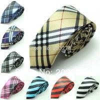 "british style gravata tie for men  Black and White Plaid skinny tie 2"" inch Necktie,ties for men  dropshipping"