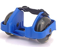 Free shipping 3 lights flashing rollers with PU wheels,heel skate,Factory wholesale flash roller with CE, SGS approval