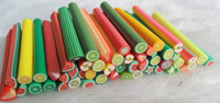 50pcs Fruit type Fimo Canes Rods Sticks Sticker DIY Slice Tips Decoration/nail art