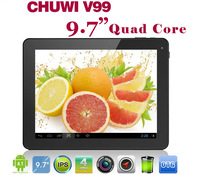 "Free shipping ! IPS 2048x1536 2GB RAM Chuwi V99 Android 4.1 Quad core Tablet PC 9.7"" Retina Screen Allwinner WiFi 5.0MP Camera"
