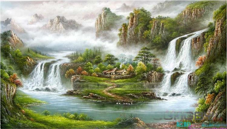 Online Toptan Alım yapın dağ manzarası yağlıboya tablolar