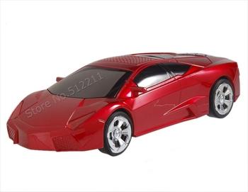 Mini Sports Car Style USB MP3 Player Speaker w/ TF Slot Portable Speaker(Red/Black)