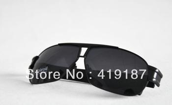 Free Shipping 1pcs/lot Men sunglasses New Design with Box tag P8516 silver border!