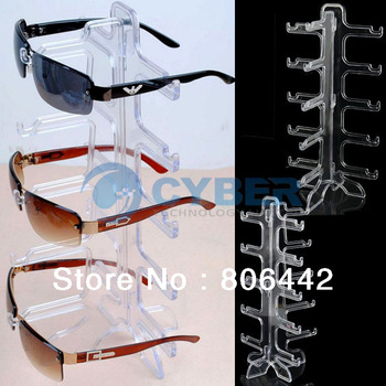For 5X Eyeglasses Sunglasses Frame Plastic Glasses Display Rack Stand Holder Free Shipping 10308