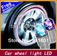 Hot Selling 4pcs/lot  3.8 * 1.5 cm Car Wheel Lights Bike wheel led Motorcycle wheel Colorful Tire Light Fashion Gift  Wholesales
