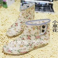 3519 transparent crystal fashion rain boots female short rainboots low-heeled jelly water shoes plastic rain shoes