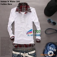 The new 2014 leisure men's long sleeveT-shirt /Good quality, 3 kinds of color/free shipping