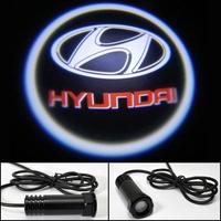 Auto Ghost Shadow Light Car LED door lights Hyundai Sonata Verna IX35 Elantra LOGO door prejection welcome light HK post Free