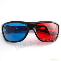 New Promotion 1pcs/lot Red&Blue Plastic Frame 3D Glasses Resin Lens Dimensional Anaglyphic Digital Video Glasses ej670074