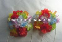 Adult hawaiian luau party dessing silk flower bra top