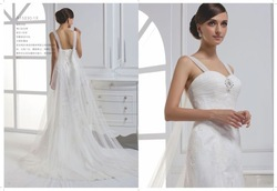 Gorgeous High Quality Charming Bridal Dress A-line Lace with Beading Court Train Custom Made AL368 Wedding Dress in 2013(China (Mainland))