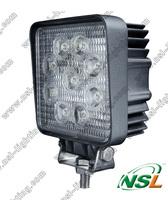 20pcs/lot square 27W LED work light, car ATV SUV off road tractor headlight led working lights