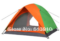 Cheap tent!3-4persons double layer rainproof & windproof outdoor family camping tent