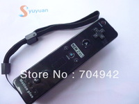 Free shipping black Color Remote built in Motion Plus  +  Nunchuck  +  Silicon Case + Strip for Wii