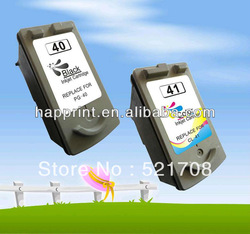 PG40 CL41 Remanufactured Ink Cartridge for Canon PG-40 CL-41 use for printers iP1200 iP1300 iP1600...(1pair, Free Shipping!!)(China (Mainland))
