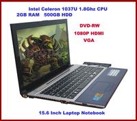 Windows 8 Laptop, Notebook Computer, Intel Celeron 1037U Dual Core, 2GB RAM, 500GB HDD, DVD-RW, Webcam, Bluetooth, 1080P HDMI