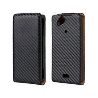 Flip Carbon Fiber Leather Case For Sony  Xperia Arc LT15i / Xperia Arc S LT18i  X12 + Free Shipping