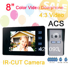 "HOT RL-8MID 8"" Hands free Color Video Door phone with ID unlock function 4:3 picture effect(China (Mainland))"