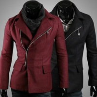 New Korean wool fashion coat Boutique men's outer wear coats trend 125005