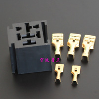 10PCS -  80A Relay Holder general automotive relay socket 5PIN