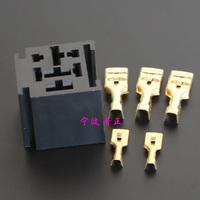 10PCS -  80A Relay Holder general automotive relay socket 5PIN