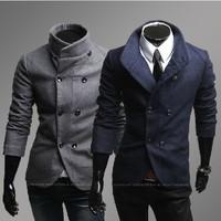 2013 men woolen coat New winter double-breasted men's garment 125012 free shipping