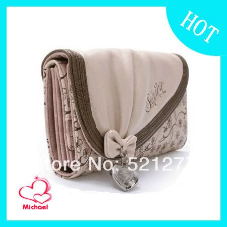 2014 New Fashion SNOOPY Wallet Women's Long Design Three Fold Purse(China (Mainland))