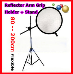 Photography Studio Reflector Panel Disc Holder Photo Backdrop Arm Grip Holder With Stand Light Stand Kit(China (Mainland))