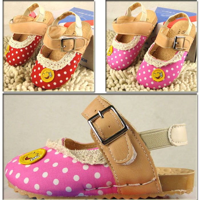 Free shipping Cute baby sandals lovely baby shoes girls sandals baby's footwear child sandals Size21-25(China (Mainland))