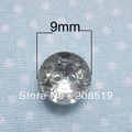 NB024 fashion Acrylic buttons 9mm round shape 100pcs silverback crystal buttons for sewing
