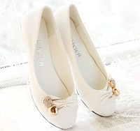 TB114  Preppy Lady fashion cherry  Flats Casual Ballet Shoes Slippers Women Lovely Girl freeshipping wholesale