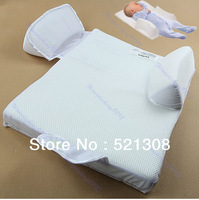 Free Shipping Baby Safe Head Back Waist Support Nursery Anti Roll Sleep Mat Positioner Pillow