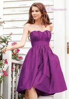 Free Shipping Strapless Bridesmaid Dress Knee Length Fashion Dresses 2014