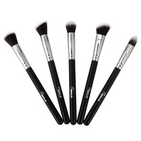 Pro 5Pcs Makeup Brushes essential kit Different Style Advanced Artificial Fiber New arrival Black Free Shipping Wholesale