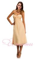 custom made strapless chiffon Bridesmaid Dresses romantic A-line dress free shipping
