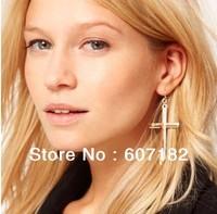 3 colors Fashion Lovely vintage cross costume alloy earring earrings wholesale