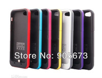 Power pack Plus Backup External Battery 2000mAh Charger Cover Case for IPHONE 5 5G 5th 7 color for choose