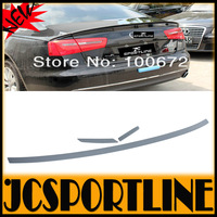 Primming Gray 2013 A6 trunk spoiler ,High quality PU 3pcs/set ABT style A6 rear trunk spoiler for audi A6 C7